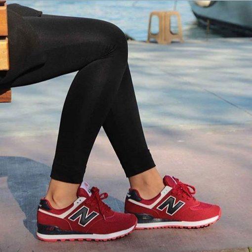 Replika-Çakma New Balance Kırmızı Ayakkabı