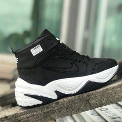 Replika-Çakma Nike M2K Tekno Bilekli Siyah Ayakkabı