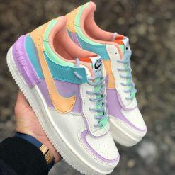 Replika-Çakma Nike Air Force Shadow Lila Ayakkabı
