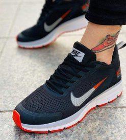 Replika-Çakma Nike Pegasus Siyah-Turuncu Erkek Günlük Ayakkabı