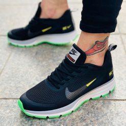 Replika-Çakma Nike Pegasus Siyah-Yeşil Erkek Günlük Ayakkabı