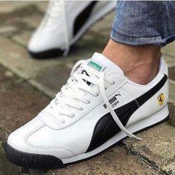 Çakma Puma Roma Ferrari Beyaz Unisex Ayakkabı