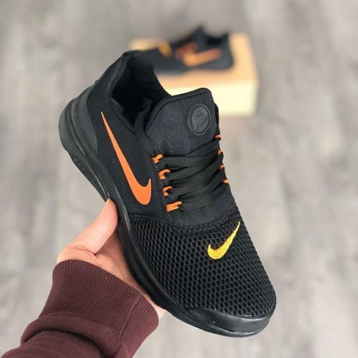 A Kalite Çakma Nike Duralon Siyah-Turuncu Unisex Spor Ayakkabı