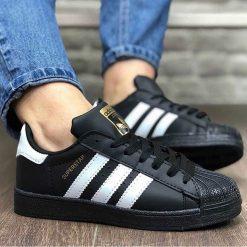 Replika Adidas SuperStar Siyah Erkek-Bayan Günlük Ayakkabı