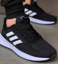 Replika Adidas Torsion Siyah-Beyaz Erkek Spor Ayakkabı