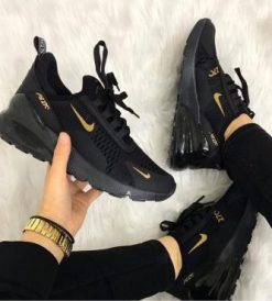 Çakma Nike Siyah-Gold Air 270 Ayakkabı