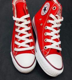 Çakma Converse Kırmızı Bilekli Ayakkabı