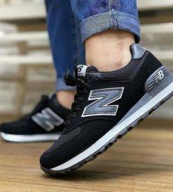 Çakma New Balance 574 Siyah Ayakkabı