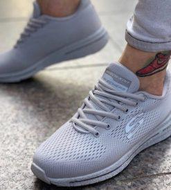 Çakma Skechers Gri Ayakkabı