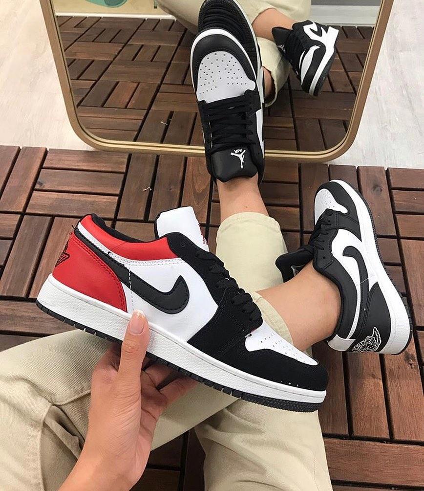 Çakma Nike Kırmızı-Siyah Jordan Kısa Ayakkabı
