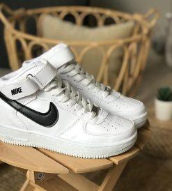 Çakma Nike Beyaz-Siyah Air Force Bilekli