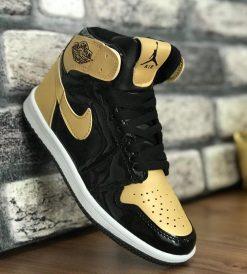 Çakma Nike Siyah-Altın Jordan Ayakkabı