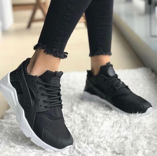 Çakma Nike Siyah Huarache Ayakkabı
