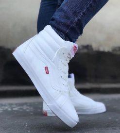 Çakma Vans Beyaz Bilekli Ayakkabı