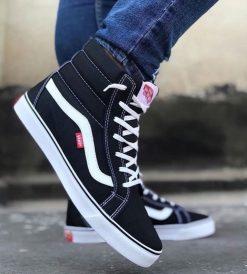 Çakma Vans Siyah Bilekli Ayakkabı