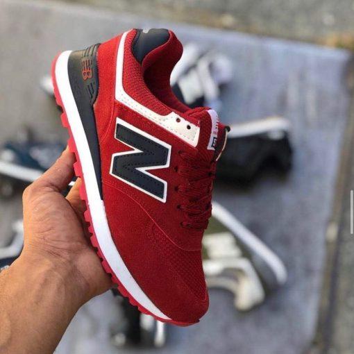 Çakma New Balance 574 Kırmızı Ayakkabı