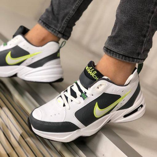 Çakma Nike Beyaz-Yeşil Air Monarch Ayakkabı
