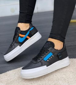 Çakma Nike Siyah-Mavi Air Force N354